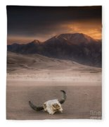 Death In The Desert Fleece Blanket