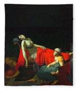 Death Of Cleopatra Fleece Blanket