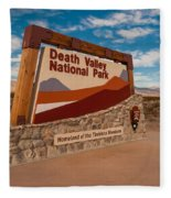 Death Valley Entry Fleece Blanket