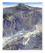 Death Valley From Outer Space Fleece Blanket