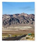 Death Valley Highway Fleece Blanket
