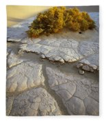 Death Valley Mudflat Fleece Blanket