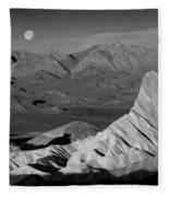 Death Valley Zabriskie Point Bw Img 0525psd Fleece Blanket