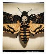 Deaths Head Hawk Moth Framed Version Fleece Blanket