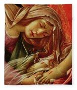Deatil From The Lamentation Of Christ Fleece Blanket