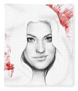 Debra Morgan Portrait - Dexter Fleece Blanket