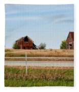 Decaying Farm Central Il Fleece Blanket