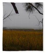 December Fog Fleece Blanket