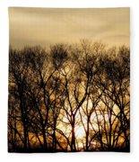 December Forest Dusk Fleece Blanket