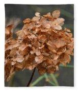 December Hydrangea II Fleece Blanket