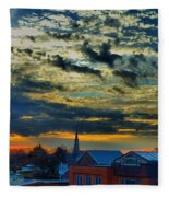 December Sunrise In Annapolis Fleece Blanket