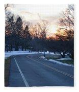 December Sunset Fleece Blanket