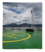 Deck On The Navimag Ferry Fleece Blanket