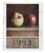 Deco Apples Fleece Blanket