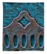Deco Metal Blue Fleece Blanket
