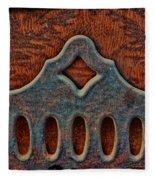 Deco Metal Red Fleece Blanket