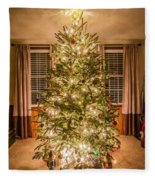 Decorated Christmas Tree Fleece Blanket