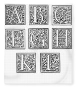 Decorative Initials, C1600 Fleece Blanket