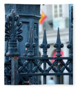 Decorative Iron Fence In New Orleans Fleece Blanket