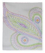 Decorative Leaf Fleece Blanket