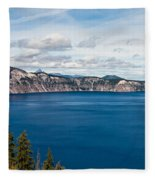 Deep Blue Crater Lake Fleece Blanket