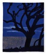 Deep - Blue - Sunset Fleece Blanket