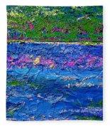 Deep Blue Texture Abstract Fleece Blanket