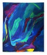 Deep Blue Thoughts Fleece Blanket