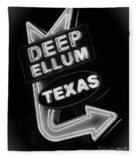 Deep Ellum Black And White Fleece Blanket