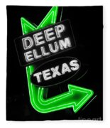 Deep Ellum In Green Fleece Blanket