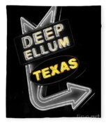 Deep Ellum In Yellow Fleece Blanket