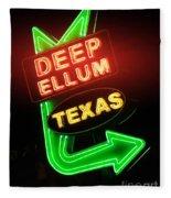 Deep Ellum Red Glow Fleece Blanket