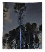 Deep Forest At Night Fleece Blanket