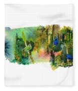 Deep Forest Song Fleece Blanket