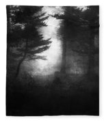 Deep In The Dark Woods Fleece Blanket