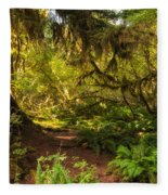 Deep Into The Hoh Rain Forest Fleece Blanket