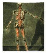Deep Muscular System Of The Back Fleece Blanket