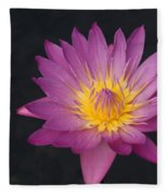 Deep Pink And Yellow... Fleece Blanket
