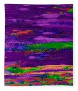 Deep Purple Horizontal Fleece Blanket