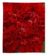 Deep Red Carnation 2 Fleece Blanket