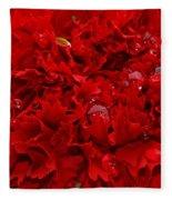Deep Red Carnation Fleece Blanket