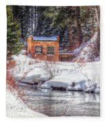Deep Snow In Spearfish Canyon Fleece Blanket