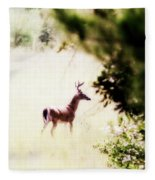 Deer 2 - Buck - White-tailed Fleece Blanket