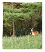 Deer At Dusk V1 Fleece Blanket