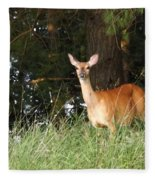 Deer At Dusk V3 Fleece Blanket