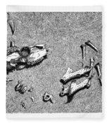 Deer Bones Fleece Blanket