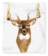 Deer - Front View Fleece Blanket