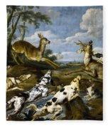 Deer Hunting Fleece Blanket
