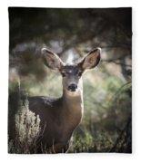 Deer I Fleece Blanket