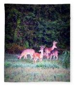 Deer-img-0158-003 Fleece Blanket